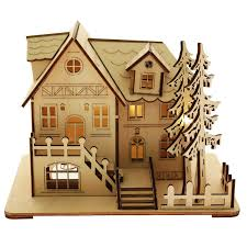 christmas village led decoration 1 laser cutting projects to try