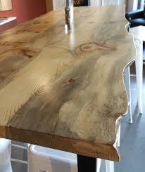 maple live edge slabs add a natural touch