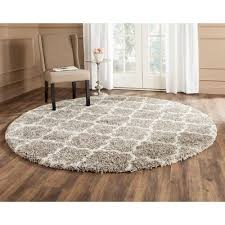 7 Foot Round Area Rugs by Hudson Shag Gray Ivory 7 Ft X 7 Ft Round Area Rug Products And