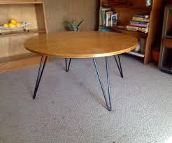 hairpin leg coffee table round kurrlson round ply top hairpin leg table kurrlson ind pinterest