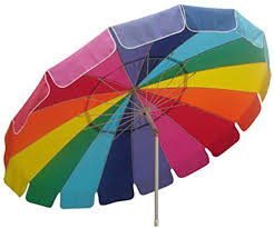 7 Foot Patio Umbrella by Amazon Com Beach Umbrella 8 Foot With Carry Bag Rainbow Patio