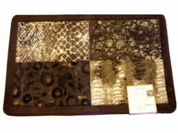 zambia animal print bath mat safari theme rug