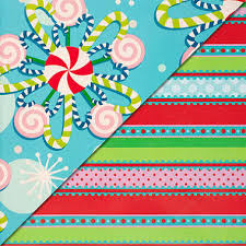 reversible christmas wrapping paper expressions from hallmark reversible gift wrap whimsical candy