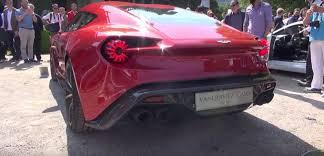 aston martin vanquish zagato revs its v12 at villa d u0027este