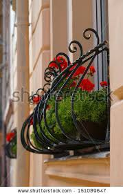 Banisters Flowers Wrought Iron Stock Images Royalty Free Images U0026 Vectors