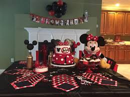 baby s birthday ideas minnie mouse gold black white theme for my babys black and