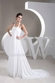 line chiffon halter sleeveless beaded wedding dresses 2030800