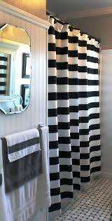 3 black and white horizontal stripe shower curtain proper