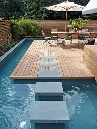 Small Terrace House Design Ideas Minimalist Swimming Pool Design For Small Terraced Houses Yard