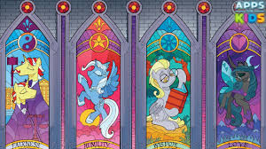 my little pony stained glass window coloring book mlp drawing