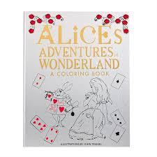 alice u0027s adventures wonderland coloring book graphic image