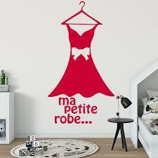 stickers muraux chambre fille ado sticker dressing citation ma petite robe u2013 stickers chambre ado