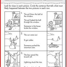 inference worksheets 1st grade kristal project edu hash