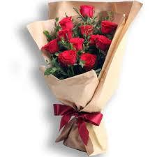 style flower 12 red roses korean style flower chimp