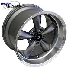 mustang replica wheels 17x10 5 anthracite bullitt mustang replica wheel 94 04