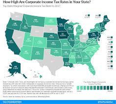 state corporate income tax rates and brackets for 2017 tax