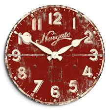 vintage kitchen wall clock red newgate clocks tin advertising