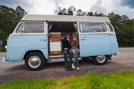 volkswagen camper pink classic vw campervan hire and vw motorhome hire scotland kombi campers