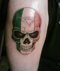 Italian Tattoo Ideas My Skull Tattoo Mixed With Italian Pride Italian Pinterest