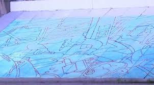 Lansing Board Of Water And Light Crews Testing Lights For Mural Under Bridge