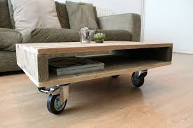 side table on casters top add casters to this your diy coffee table best made plans side