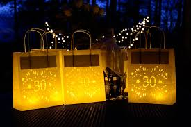 30th birthday decorations 30th birthday decorations lumiere bags lantern bags for the