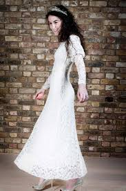 vintage wedding dresses london 1930s vintage wedding dress ivory silk chiffon lace sleeves