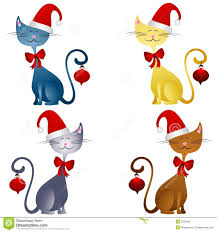 cartoon christmas cats clip art 2 royalty free stock image image
