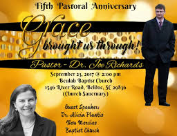 pastor anniversary flyer template postermywall