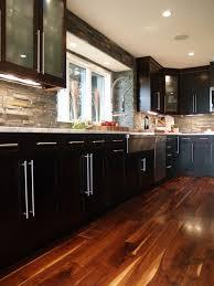 kitchen fancy kitchen stone backsplash dark cabinets ideas with