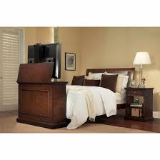 tv lift cabinet foot of bed elevate espresso pop up tv lift cabinet at the foot of the bed fits