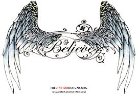 wonderful angel wings tattoos design