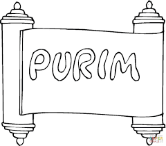purim coloring page free printable coloring pages