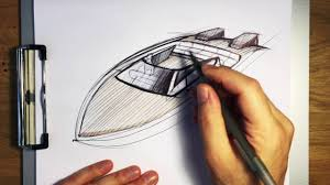 sketching a speed boat using arcs in perspective youtube