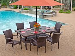 resin folding table and chairs sierra 7 pc resin wicker dining set with 76 x 42 rectangular slat