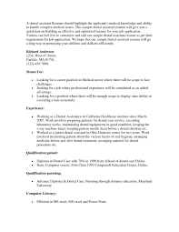 Dental Assistant Resume Samples by Ultimate Resume Examples For Dental Assistant With Dental