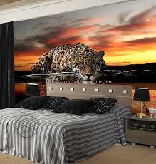 Kids Art Room by Custom Photo Wallpaper Animal Leopard 3d Wallpaper Waterproof