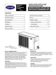 3 u0026 5 tr carrier specs and installation manual air conditioning