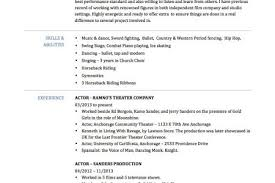 Sample Resume For Actors by Background Actor Resume Sample Reentrycorps