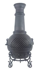 Cast Iron Outdoor Fireplace by Chiminea Gatsby Style Cast Aluminum Outdoor Fireplace