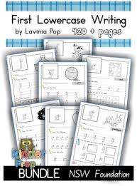 handwriting bundle lowercase letters nsw foundation home