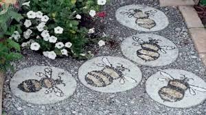 Garden Stone Ideas by Garden Ideas Stepping Stone Ideas Youtube