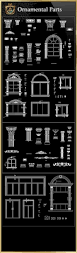 ornamental parts of buildings 8 free cad blocks u0026 drawings