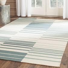 Blue Striped Area Rugs Safavieh Kilim Blue Ivory Striped Area Rug Reviews Wayfair