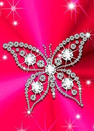 glitter wallpaper with butterflies butterfly bling bling hello kitty ipod iphone wallpapers