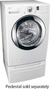 Lg Washer Pedestal White Lg 3 5 Cu Ft 7 Cycle Large Capacity Washer White Wm2101hw Best Buy