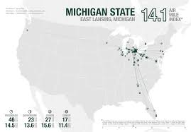 Michigan State Campus Map Uxblog Idv Solutions U0027 User Experience The Air Mile Index Ncaa