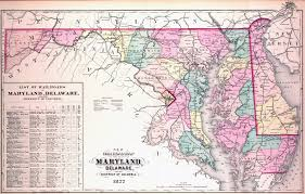 Md Map Large Detailed Old Administrative Map Of Maryland And Delaware