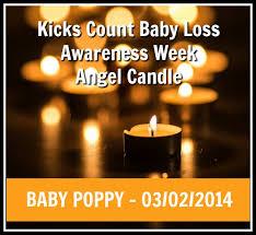 infant loss candles baby loss awareness week kicks count