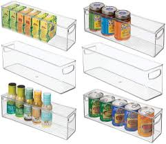 kitchen food storage pantry cabinet mdesign plastic stackable kitchen pantry cabinet refrigerator or freezer food storage bins with handles organizer for fruit yogurt snacks pasta